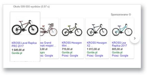 Reklama produktowa Google